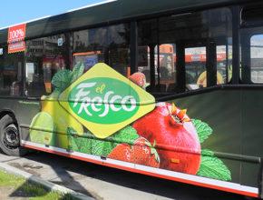 Размещение рекламы Эльфреско на транспорте