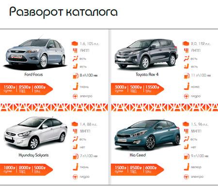 Каталог автомобильной компании