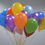 Оформление воздушными шарами с гелием