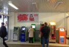 Стенд МТС в гипермаркете Магнит