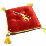 Прокат церемониальной подушечки и ножниц в Перми — аренда