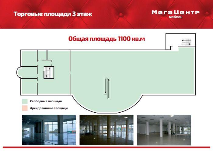 План 3 этажа Мега Центра