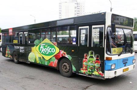 Реклама на транспорте el Fresco Пермь