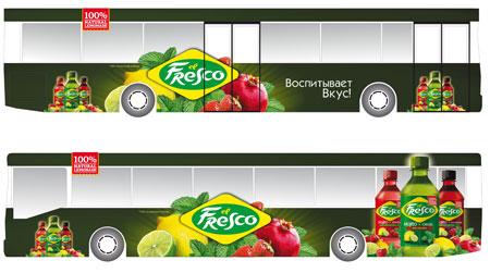 Реклама на транспорте el Fresco Пермь - макет