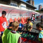 Фотоотчет с детского турнира по футболу Coca-Cola кожаный мяч