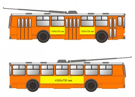 Реклама на троллейбусе Перми