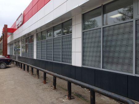 Оклейка витрин магазинов Магнит