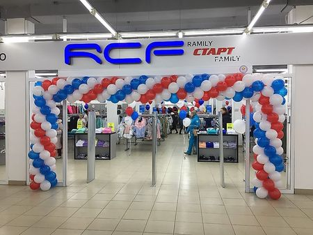 Оформление шарами магазина RCF