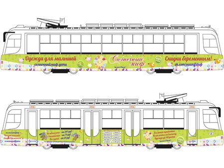 Реклама на трамвае
