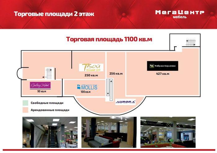 План 2 этажа Мега Центра