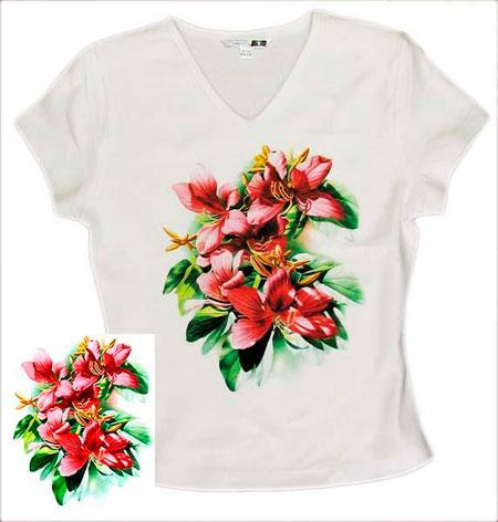 заказ футболок печатью